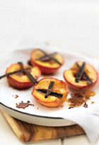 Baked Nectarines With Vanilla Yoghurt