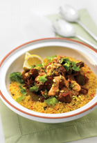 Lamb And Date Tagine With Spiced Yoghurt Dressing