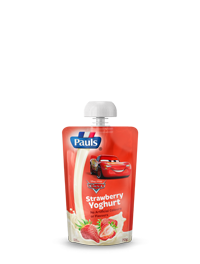 Pauls Cars Strawberry Yoghurt Pouch