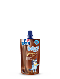 Pauls Bluey Chocolate Custard Pouch